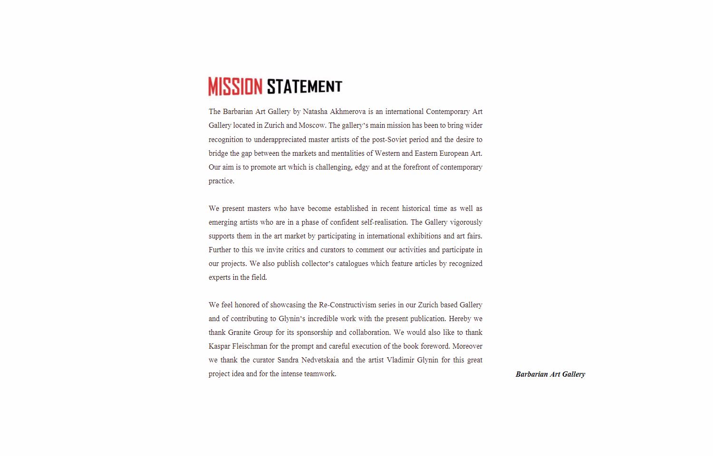 VG mission statement